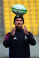 Otere Black. Maori All Blacks captain's run rugby training at Sky Stadium in Wellington, New Zealand on Friday, 25 June 2021. Photo: Dave Lintott / lintottphoto.co.nz
