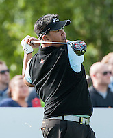 21.05.2015. Wentworth, England. BMW PGA Golf Championship. Round 1.  Kiradech Aphibarnrat [THA] on the first tee. The first round of the 2015 BMW PGA Championship from The West Course Wentworth Golf Club