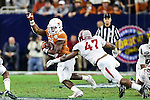 Texas Longhorns running back Johnathan Gray (32) in action during the Advocare V100 Texas Bowl game between the Arkansas Razorbacks and the Texas Longhorns at the NRG Stadium in Houston, Texas. Arkansas defeats Texas 31 to 7.