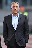 ROMA, Italy: October 18, 2013: As Roma beats SSC Napoli 2-0 during the Serie A match played in the Olimpico Stadium. In the photo the AS Rome Chairman James Pallotta