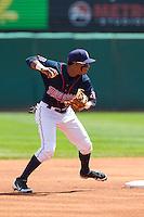 Cedar Rapids Kernels shortstop Jorge Polanco #5 throws during a game against the Lansing Lugnuts at Veterans Memorial Stadium on April 30, 2013 in Cedar Rapids, Iowa. (Brace Hemmelgarn/Four Seam Images)