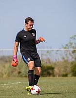 BRADENTON, FL - September 21, 2017: The U.S. Men's U-17 National team train prior to their World Cup at IMG Academy.