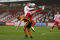 Charlie Carter of Stevenage and Daniel Batty of Hull City during Stevenage vs Hull City, Emirates FA Cup Football at the Lamex Stadium on 29th November 2020