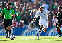 PASADENA, CA – June 25, 2011: USA player Jermaine Jones (13) during the Gold Cup Final match between USA and Mexico at the Rose Bowl in Pasadena, California. Final score USA 2 and Mexico 4.
