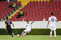 GUADALAJARA, MEXICO - MARCH 24: Aaron Herrera #17 of the United States during a game between Mexico and USMNT U-23 at Estadio Jalisco on March 24, 2021 in Guadalajara, Mexico.