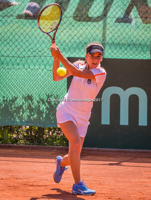 The Hague, Netherlands, 11 June, 2017, Tennis, Play-Offs Competition, Irina Bara , Leimonias.<br /> Photo: Henk Koster/tennisimages.com