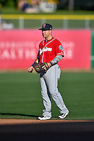 Daniel Robertson (2) of the Tacoma Rainiers during the game against the Salt Lake Bees in Pacific Coast League action at Smith's Ballpark on July 22, 2016 in Salt Lake City, Utah. The Rainiers defeated the Bees 8-3. (Stephen Smith/Four Seam Images)