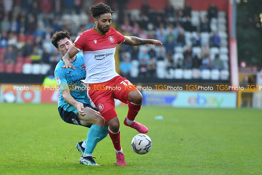 Bruno Andrade of Stevenage FC during Stevenage vs Exeter City, Sky Bet EFL League 2 Football at the Lamex Stadium on 9th October 2021