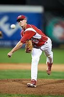 Batavia Muckdogs pitcher Lee Stoppelman #47 during a NY-Penn League game against the Auburn Doubledays at Dwyer Stadium on September 2, 2012 in Batavia, New York.  Batavia defeated Auburn 8-7.  (Mike Janes/Four Seam Images)