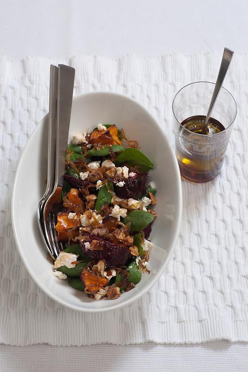 Beetroot, Pumpkin and Wallnut salad.