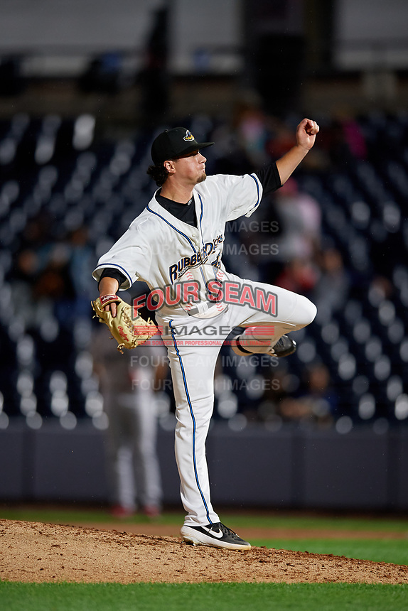 Akron RubberDucks pitcher Kyle Nelson (39) during an Eastern League game against the Reading Fightin Phils on June 4, 2019 at Canal Park in Akron, Ohio.  Akron defeated Reading 8-5.  (Mike Janes/Four Seam Images)