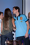 01.06.2012. Telecinco presents its official schedule for the transmission of Eurocup 2012 to the Ciudad del Futbol of Las Rozas, Madrid. In the imageSara Carbonero and Iker Casillas (Alterphotos/Marta Gonzalez)