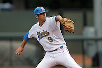 Adam Plutko #9 of the UCLA Bruins pitches against the Arizona State Sun Devils at Jackie Robinson Stadium on March 16, 2012 in Los Angeles,California. UCLA defeated Arizona State 6-5.(Larry Goren/Four Seam Images)