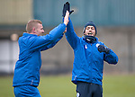 St Johnstone Training…09.12.16<br />Brian Easton and Murray Davidson pictured during training at McDiarmid Park this morning..<br />Picture by Graeme Hart.<br />Copyright Perthshire Picture Agency<br />Tel: 01738 623350  Mobile: 07990 594431