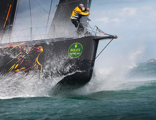 Ian Walker-skippered VO70 Abu Dhabi Ocean Racing which romped round the course in record time in 2011 © Daniel Forster/ROLEX