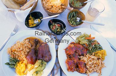 Karibik, Kleine Antillen, Grenada: Kreolisches Essen   Caribbean, Lesser Antilles, Grenada: Creole Dishes