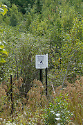 Pondicherry wildlife refuge Sign  located in the White Mountain National Forest of New Hampshire.