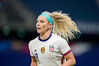 LE HAVRE, FRANCE - APRIL 13: Julie Ertz #8 of the United States during a game between France and USWNT at Stade Oceane on April 13, 2021 in Le Havre, France.