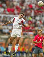 Captain Claudio Reyna. The USA tied South Korea, 1-1, during the FIFA World Cup 2002 in Daegu, Korea.