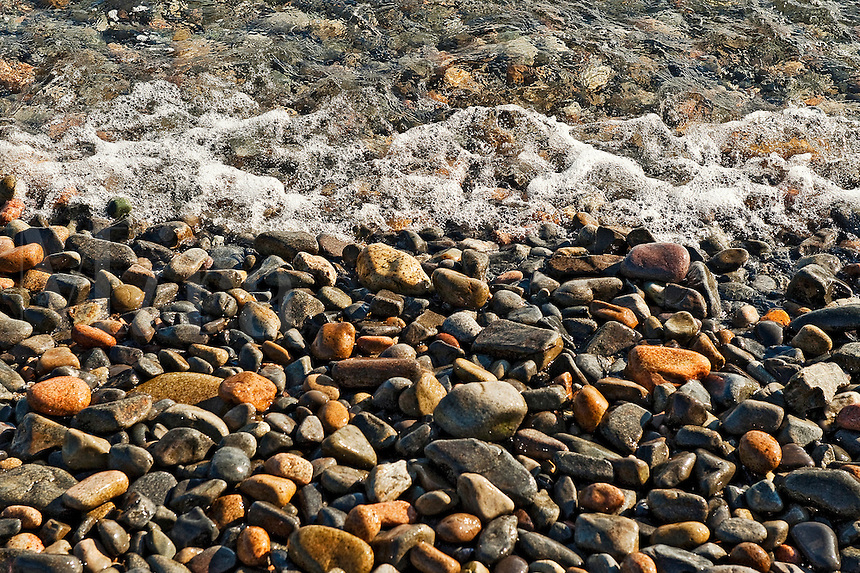 Rocky beach detail, Bernard, Maine, ME