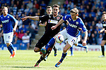 Chesterfield v Fleetwood Town<br /> 3.5.2014<br /> Sky Bet League Two<br /> Picture Shaun Flannery/Trevor Smith Photography<br /> Fleetwood's Liam Hogan challenges Chesterfield's Jay O'Shea.