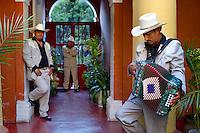 Mexico, Chiapas, San Cristobal de las Casas,  Musicians playing in mariachi band