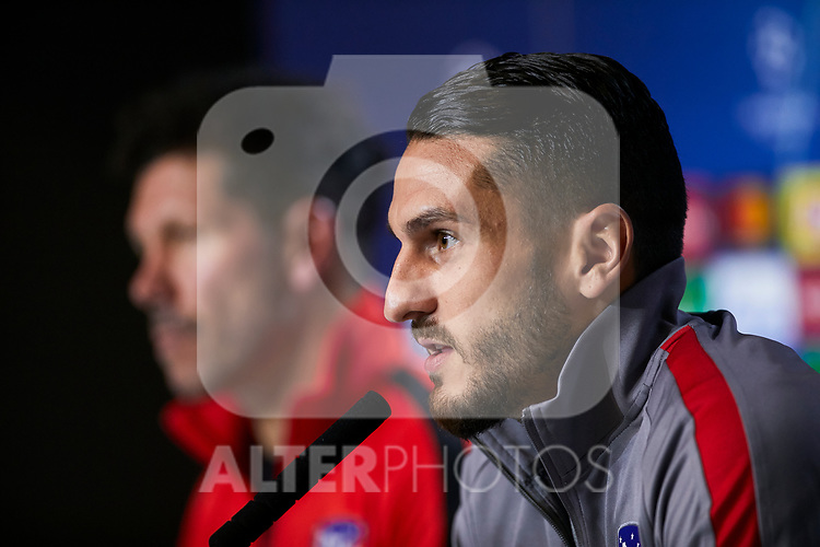 Jorge Resurreccion 'Koke' during the Press Conference before the UEFA Champions League match between Atletico de Madrid and Bayer 04 Leverkusen at Wanda Metropolitano Stadium in Madrid, Spain. October 21, 2019. (ALTERPHOTOS/A. Perez Meca)