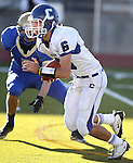 Carson's Matt Nolan scrambles up the middle during the NIAA 4A northern region football championship game between Reed High and Carson High on Saturday, Nov. 26, 2011, in Reno, Nev. Reed won 49-0 advancing to the state title game next Saturday against Bishop Gorman. .Photo by Cathleen Allison