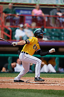 Erie SeaWolves Luke Burch (3) at bat during an Eastern League game against the Altoona Curve and on June 4, 2019 at UPMC Park in Erie, Pennsylvania.  Altoona defeated Erie 3-0.  (Mike Janes/Four Seam Images)