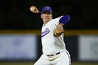 Western Carolina Catamounts relief pitcher Carson Lowder (44) in action against the St. John's Red Storm at Childress Field on March 13, 2021 in Cullowhee, North Carolina. (Brian Westerholt/Four Seam Images)