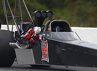 Sep 27, 2020; Gainesville, Florida, USA; NHRA top fuel driver Arthur Allen during the Gatornationals at Gainesville Raceway. Mandatory Credit: Mark J. Rebilas-USA TODAY Sports