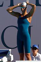 Trofeo Settecolli di nuoto al Foro Italico, Roma, 13 giugno 2013.<br /> Federica Pellegrini, of Italy, prepares to compete in tne women's 400 meters freestyle at the Sevenhills swimming trophy in Rome, 13 June 2013.<br /> UPDATE IMAGES PRESS/Isabella Bonotto