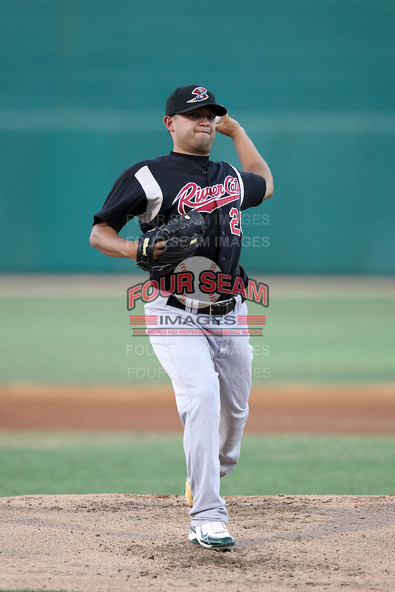 Carlos Hernandez #26 of the Sacramento RiverCats plays in a Pacific Coast League game against the Tucson Padres at Kino Stadium on June 24, 2011  in Tucson, Arizona. Bill Mitchell/Four Seam Images
