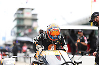 28th May 2021; Indianapolis, Indiana, USA;  NTT Indy Car Series car driver Rinus VeeKay (21) gets in his car as he prepares for the 105th running of the Indianapolis 500