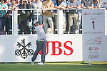 Thitiphun Chuayprakong of Thailand tees off the first hole during the 58th UBS Hong Kong Golf Open as part of the European Tour on 08 December 2016, at the Hong Kong Golf Club, Fanling, Hong Kong, China. Photo by Marcio Rodrigo Machado / Power Sport Images
