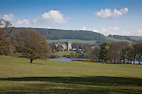 Lochinch Castle viewed across the White Loch of Inch