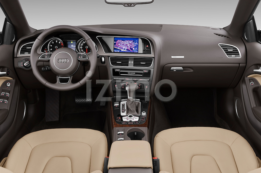 Straight dashboard view of a 2013 Audi A5 Convertible.