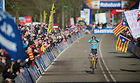 Wout Van Aert (BEL) can't believe he's about to become World Champion<br /> <br /> 2014 UCI cyclo-cross World Championships, Men U23