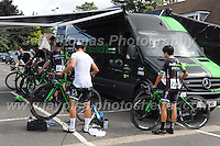 "Team Pedal Heaven competitors prepare for the race during the Abergavenny Festival of Cycling ""Grand Prix of Wales"" race on Sunday 17th 2016<br /> <br /> <br /> Jeff Thomas Photography -  www.jaypics.photoshelter.com - <br /> e-mail swansea1001@hotmail.co.uk -<br /> Mob: 07837 386244 -"