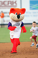 July 10th 2008:  The mascot, Orbit, of the Akron Aeros, Class-AA affiliate of the Cleveland Indians, during a game at Canal Park in Akron, OH.  Photo by:  Mike Janes/Four Seam Images