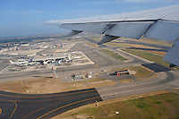 Rome airport, Italy from an aircraft