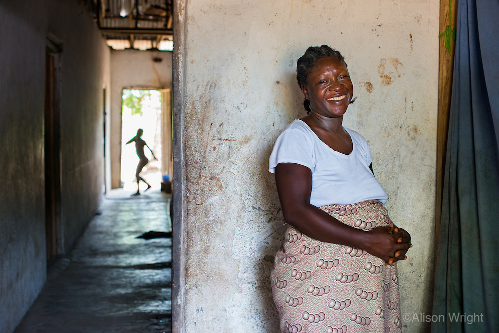 AWright_LIB_003920.jpg<br /> Liberia<br /> Doris Wemyou, of Buchanana, Liberia, is pregnant with her fifth child. She receives pre-natal care from a BRAC community healthcare worker regularly.