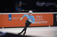SPEEDSKATING: DORDRECHT: 06-03-2021, ISU World Short Track Speedskating Championships, RF 500m Men, Rino Vanhooren (BEL), ©photo Martin de Jong