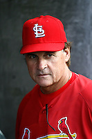 St. Louis Cardinals Manager Tony LaRussa before a game from the 2007 season at Dodger Stadium in Los Angeles, California. (Larry Goren/Four Seam Images)