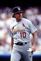 St.Louis Cardinal Manager Tony LaRussa at Dodger Stadium in Los Angeles,California during the 1996 season. (Larry Goren/Four Seam Images)