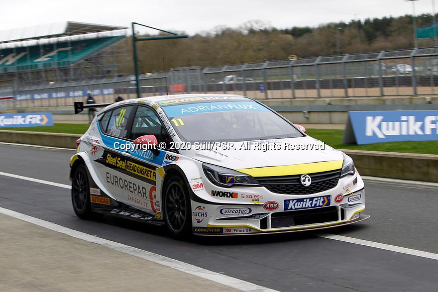 2020 British Touring Car Championship Media day. #11 Jason Plato. Power Maxed Car Care Racing. Vauxhall Astra