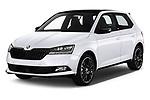 2019 Skoda Fabia Monte Carlo 5 Door Hatchback angular front stock photos of front three quarter view