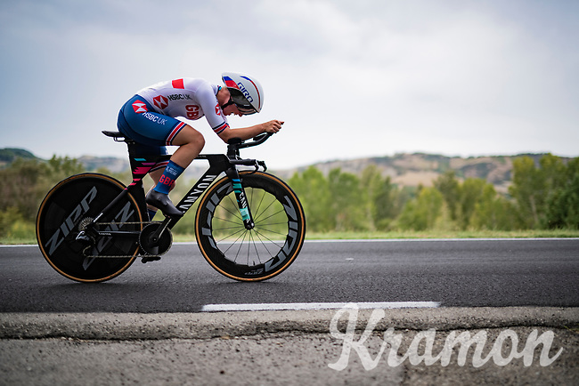 Alice Barnes (GBR/Canyon Sram Racing)<br /> <br /> Women Elite Time trial from Imola to Imola (31.7km)<br /> <br /> 87th UCI Road World Championships 2020 - ITT (WC)<br /> <br /> ©kramon