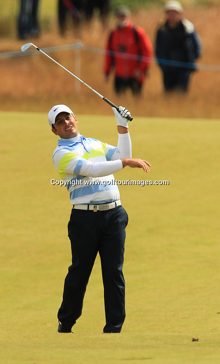 Francesco Molinari (ITA) during the third round of the 2012 Aberdeen Asset Management Scottish Open being played over the links at Castle Stuart, Inverness, Scotland from 12th to 15th July 2012:  Stuart Adams www.golftourimages.com:14th July 2012