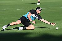 20th December 2020; Hamilton, New Zealand;  Glenn Phillips during warm up, New Zealand Black Caps versus Pakistan, International Twenty20 Cricket. Seddon Park, Hamilton, New Zealand.